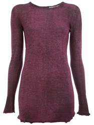 Avant Toi Fine Knit Sweater Pink And Purple