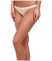 Le Mystere Sophia Lace String Bikini 735 Almond Women's Underwear Brown