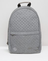 Mi Pac Quilted Backpack Grey