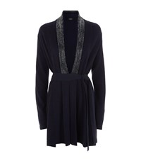 William Sharp Swarovski Long Wrap Cardigan Female