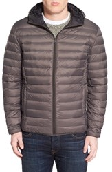 Men's Schott Nyc Zip Front Down Jacket Slate