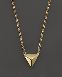 Zoe Chicco 14K Yellow Gold Triangle Pyramid Necklace 16