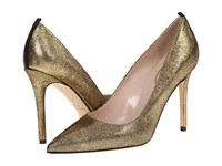 Sarah Jessica Parker Fawn 100Mm Vintage Oro Liberty Nappa Women's Shoes Gold
