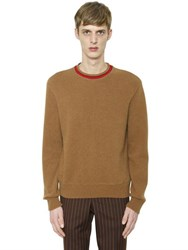 Givenchy Red Stripe Collar Wool Sweater