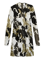 Danielle Romeril Camouflage Effect Applique And Lace Dress
