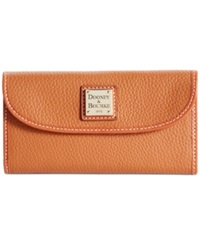 Dooney And Bourke Pebble Continental Clutch Caramel