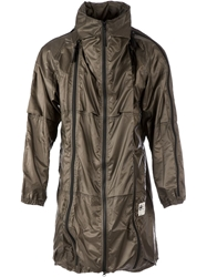 Final Home Zip Detail Padded Jacket Brown