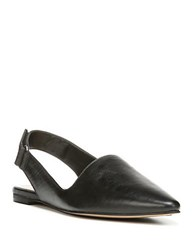 Franco Sarto Sphinx Leather Slingbacks Black