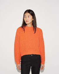 Acne Studios Hira Chunky Pullover Orange