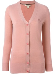 Burberry Brit V Neck Cardigan Pink And Purple