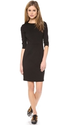 Three Dots Sheath Dress With 3 4 Sleeves Black