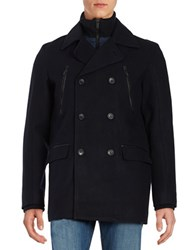 Calvin Klein Regular Fit Wool Peacoat Navy