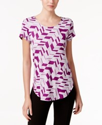 Alfani Printed T Shirt Only At Macy's Graphic Iris