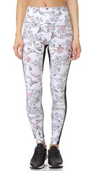 Lucas Hugh Lima Leggings White Peru Print