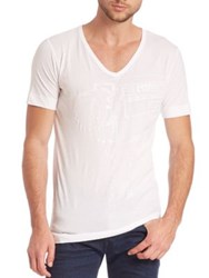 Diesel Black Gold Taiciy Tonal Graphic Tee White