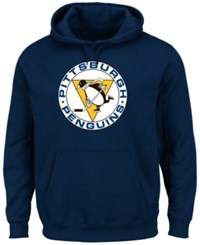 Majestic Men's Pittsburgh Penguins Vintage Lightweight Patch Hoodie