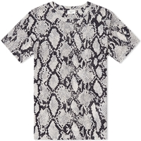 Engineered Garments Saint Laurent Python Print Tee Black And Natural