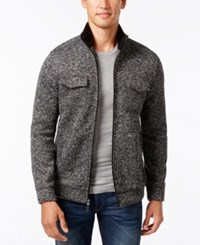 Tasso Elba Men's Zip Front Textured Jacket Only At Macy's Deep Black
