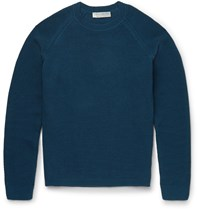 Gieves And Hawkes Mercerised Cotton Sweater Blue