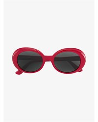 Saint Laurent California Surf Sunglasses Red Black Denim