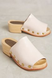 Anthropologie Rachel Comey Dover Clogs Blush Satinado