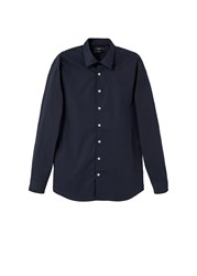 Mango Slim Fit Cotton Shirt Navy