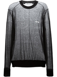 Givenchy Sheer Crew Neck Jumper Black