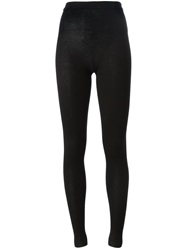 Dolce And Gabbana Ribbed Leggings Black