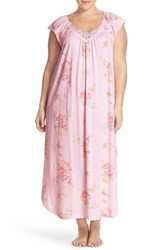 Plus Size Women's Midnight By Carole Hochman 'Bouquets' Cotton Nightgown