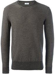 Closed Knitted Crew Neck Sweater Grey