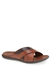 Ecco 'Chander' Slide Sandal Men Cognac Coffee
