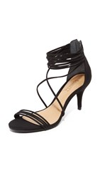 Schutz Violita Ankle Strap Sandals Black