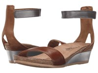 Naot Footwear Pixie Maple Brown Leather Latte Brown Leather Mirror Leather Women's Sandals