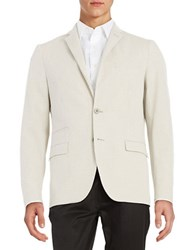 Black Brown Linen Two Button Jacket Pale Khaki