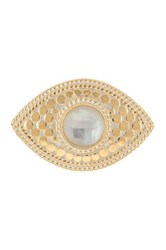 Anna Beck 18K Gold Plated Sterling Silver Mother Of Pearl Third Eye Ring Metallic