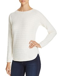 Foxcroft Baby Cable Knit Sweater Winter White