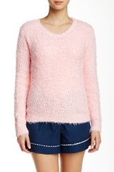 Pj Salvage Boucle Knit Sweater Pink
