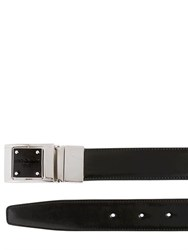 Dolce And Gabbana 30Mm Reversible Brushed Leather Belt