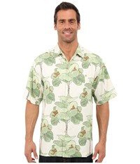 Tommy Bahama I'm A Big Fan Tortola Silk Camp Shirt Continental Men's Clothing White