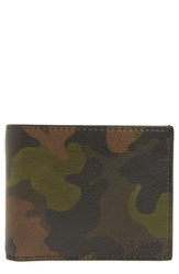 Jack Spade Men's Camo Leather Wallet