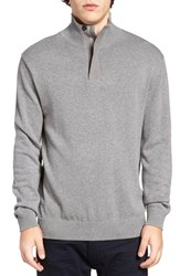 French Connection Men's Quarter Zip Sweater Mid Grey Melange