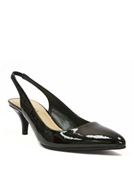 Ellen Tracy Tina Patent Leather Slingback Pumps