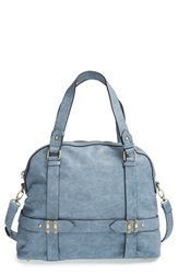 Sole Society 'Tristan' Vegan Leather Bowler Bag Chambray