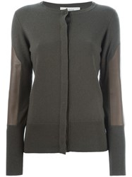 Pringle Of Scotland Leather Panel Cardigan