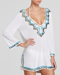 Milly Mirrored Embroidery Paillettes Swim Cover Up Tunic