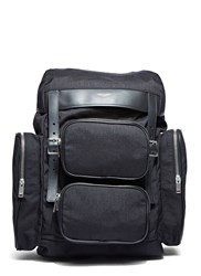 Saint Laurent Delave Multi Pocket Canvas Backpack Black