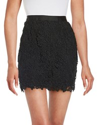 French Connection Lace Overlay Mini Skirt Black