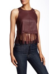 Elizabeth And James Genuine Leather Brookline Tank Red