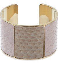 Aspinal Of London Minerva Python Leather Cuff Rose