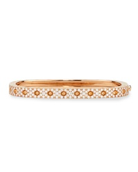 Pois Moi Rose Gold Single Row Diamond Bangle Robert Coin